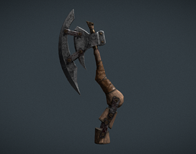 Axe Low-poly Asset 3d Model PBR low-poly