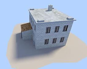 3D model VR / AR ready street fbx building