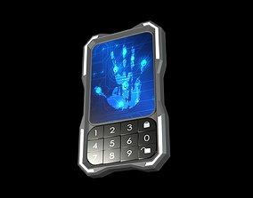 3D model lock Hand Scanner Sci-Fi