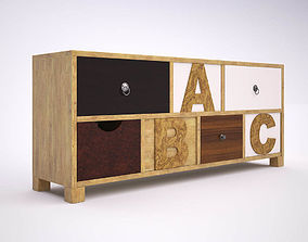3D Chest of Drawers ABC