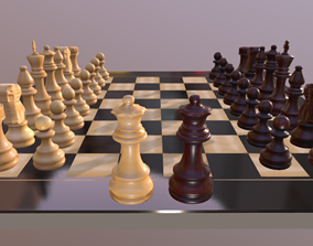 3D printable model games Chess Board