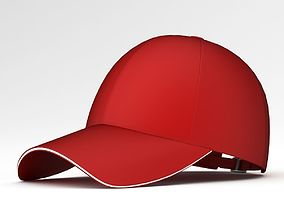 Red Baseball Cap 3D model