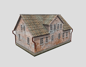 3D model Abandoned house in European style