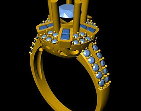 3D print model DiamondRing 18K 4