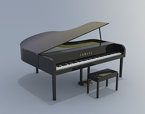 Baby Grand Electronic Piano 3D