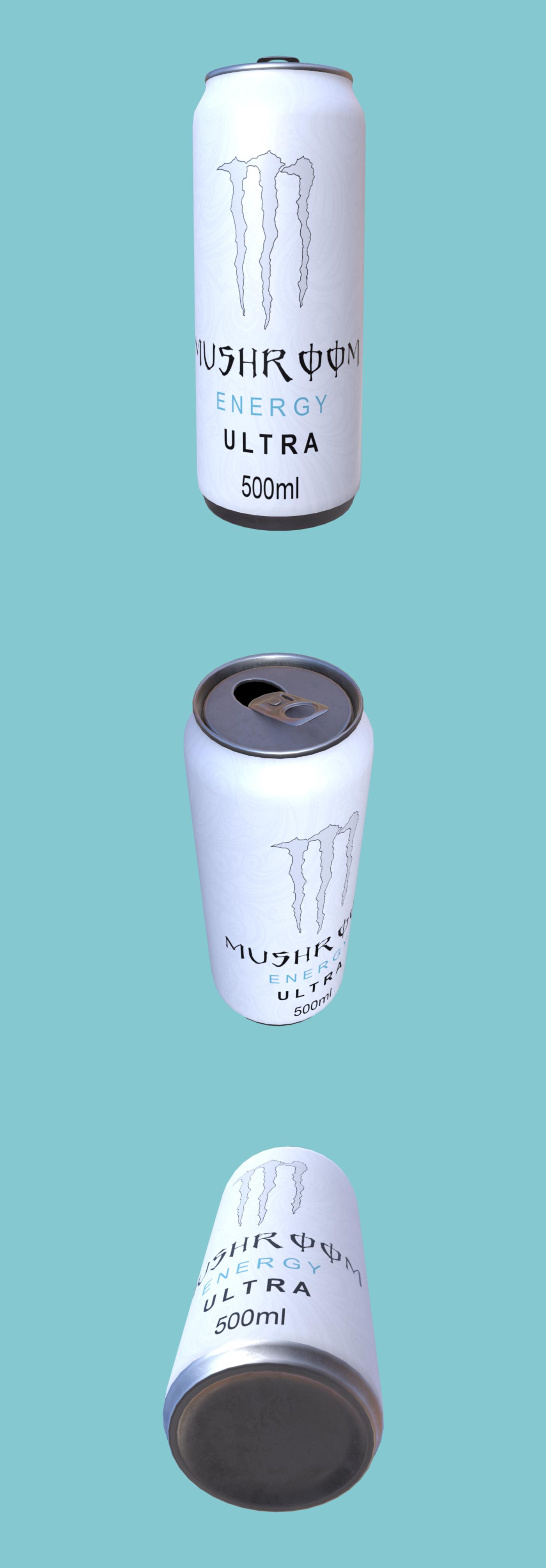 Mushroom Energy drink can