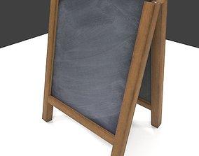 3D asset Chalk Aboard low poly PBR