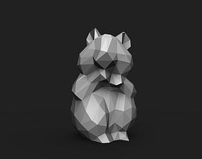 Hamster Low Poly 3D print model