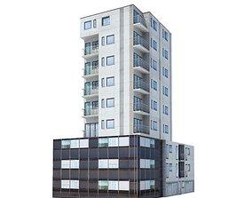 9 Story Residential Building 3D model