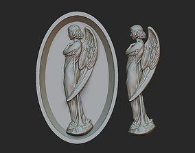 3D printable model Angel relief Two versions