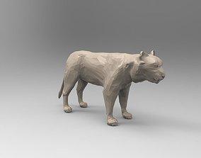 White Tiger 3D Low-Poly