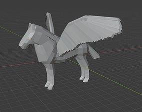 Pegasus figurine STL model