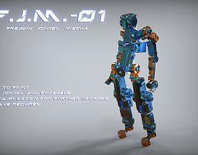 3D print model FJM01 - Freakin jointed mecha