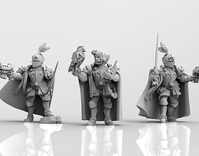 Feudal Guard Female Higher Officers female 3D print model