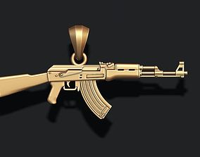 gangsta AK 74 gun pendant 3d