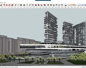 Sketchup Commercial and office complex B10 3D Model