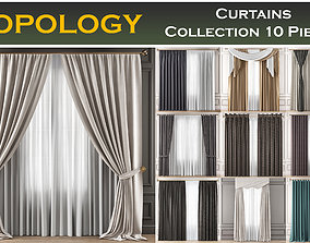 3D model Curtains Collection 10 Pieces