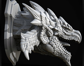3D Printable Monster hunter wall trophy - Rathalos