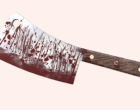 Bloody Cleaver Game Ready PBR 3D model