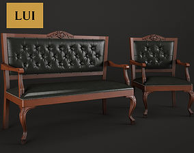 Armchair and banquette Lui RAMBAY 3D