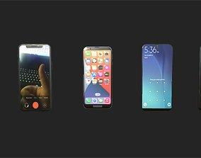 3D 5 phone pack - PBR ready