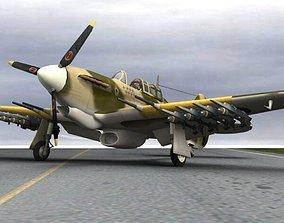 Hurricane Mk IIc Tank Hunter 3D model