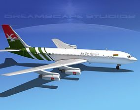 3D model Boeing 707 Air Seychelles