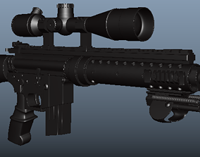 3D asset 3rd person View MK12