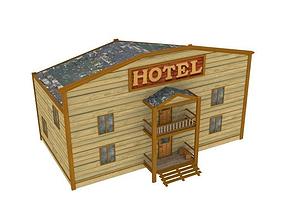 3D asset Western hotel