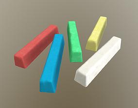 3D model Colored Chalks