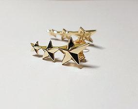 3D printable model star earings