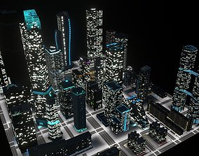 3D asset Skyscrapers Pack 01
