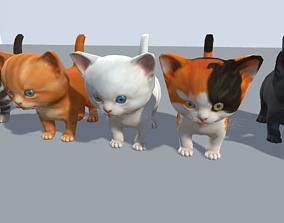 Kittens pack 3D asset