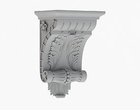 Scroll Corbel 51 - 3D Printable
