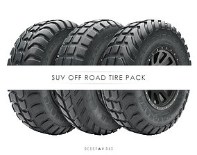 Off road tire pack of 6 assets 3D model vehicle