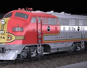 3D Santa Fe Super Chief Train