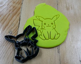 3D print model Pokemon Pikachu cookie cutter