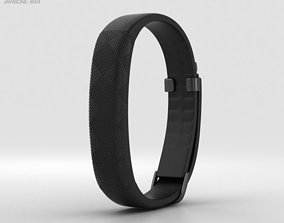 3D model Jawbone UP2 Black Diamond Classic Flat Strap