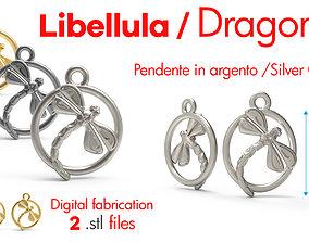 3D print model Dragonfly silver Charm digital fabricaion