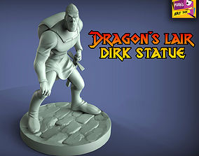 Dragons Lair inspired Statue 3D printable model