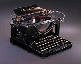 3D model LC Smith Antique Typewriter Machine