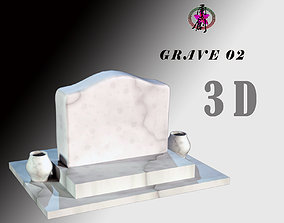 Grave-02 3D asset game-ready