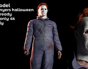 rigged Mike Myers Halloween 3d model