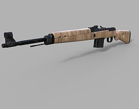 3D Gewehr 43 German WW2 Semi-Automatic Rifle