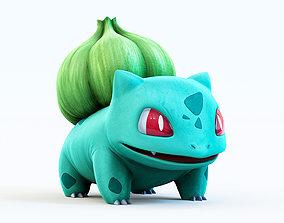 3D model game-ready fantasy Pokemon Bulbasaur