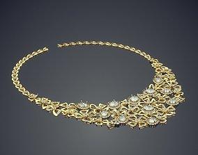Elegant Necklace With Diamonds 1050 3D print model