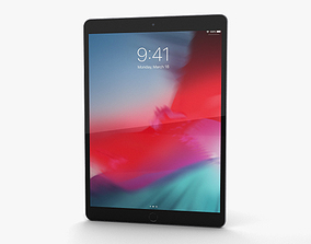 3D Apple iPad Air 2019 Space Gray