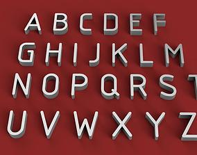 GOST font uppercase and lowercase 3D Letters STL FILE
