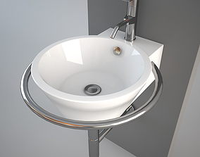Althea Hera Center wash-basin 3D model