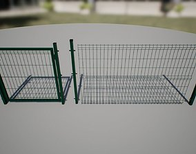 3D model Modular Fence asset game-ready